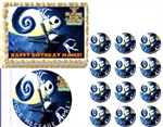Nightmare Before Christmas Jack Skellington Edible Cake Topper Frosting Sheet - All Sizes!