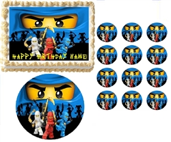 Ninjago BLUE Ninja Ninjago Edible Cake Topper Frosting Sheet - All Sizes!