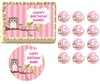 Look WHOO'S Pink Girl Owl First Birthday Baby Shower Edible Cake Topper Frosting Sheet - All Sizes!