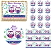 Cute PATCHWORK OWLS Edible Cake Topper Image Frosting Sheet Cake Cupcakes NEW