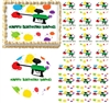 Paintball Splatter Paintball Gun Edible Cake Topper Image Frosting Sheet Cake