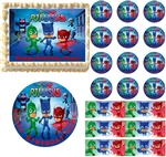 PJ Masks Edible Cake Topper Image Frosting Sheet Cake Decoration - All Sizes!