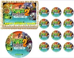 Plants vs  Zombies Garden Warfare Edible Cake Topper Frosting Sheet - All  Sizes!