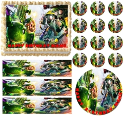 Plants vs. Zombies Garden Warfare Edible Cake Topper Frosting Sheet - All Sizes!