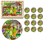 Plants vs. Zombies Edible Cake Topper Frosting Sheet - All Sizes!