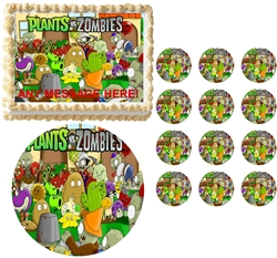 plants vs zombies 2 edible cake topper frosting sheet all sizes