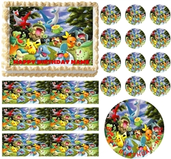 Flying POKEMON Edible Cake Topper Frosting Sheet - All Sizes!