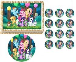 My Little Pony Party Edible Cake Topper Frosting Sheet - All Sizes!