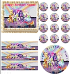 My Little Pony Equestria Girls RAINBOW ROCKS Edible Cake Topper Frosting Sheet-All Sizes