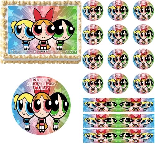 The Powerpuff Girls Edible Cake Topper Image Cupcakes Cookies