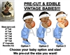 Pre Cut Light Blue Prince Baby Basketball EDIBLE Cake Topper Image High Top Shoe