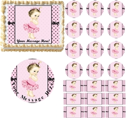 Vintage Princess Baby Edible Cake Topper Image Cupcakes Baby Shower Cake Ideas