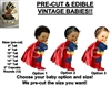 PRE-CUT Little Prince Superhero Cape Boy EDIBLE Cake Topper Image Prince Cake