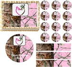 Realtree Pink Realtree WEDDING BUCK DOE Edible Cake Topper Frosting Sheet - All Sizes!