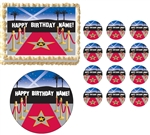 RED CARPET HOLLYWOOD Glam Party Edible Cake Topper Image Frosting Sheet! NEW