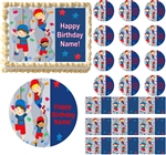 Boys ROCK CLIMBING Edible Cake Topper Image Frosting Sheet Cupcakes Decorations