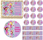 Girls ROCK CLIMBING Edible Cake Topper Image Frosting Sheet Cupcakes Decorations