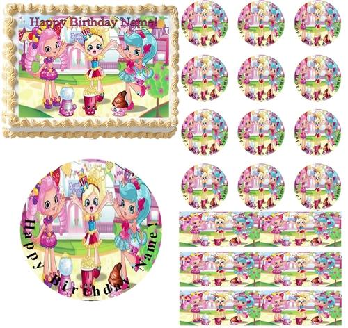 cute shopkins shoppies edible cake topper image frosting sheet
