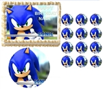 Sonic the Hedgehog Face Party Edible Cake Topper Frosting Sheet - All Sizes!