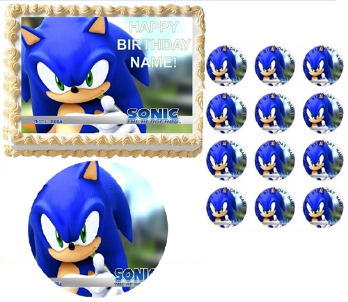 the hedgehog party edible cake topper frosting sheet all sizes