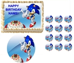 Sonic the Hedgehog Pointing Party Edible Cake Topper Frosting Sheet - All Sizes!