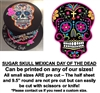Mexican Black Sugar Skull Edible Cake Topper Image Cupcakes Day of the Dead Skull Cake