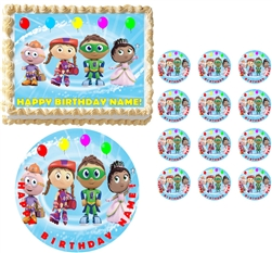 SUPER WHY Characters Party Edible Cake Topper Frosting Sheet - All Sizes!