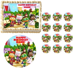 SUPER WHY Characters Edible Cake Topper Frosting Sheet - All Sizes!