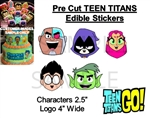 Pre-Cut Teen Titans Go Characters EDIBLE Cake Stickers Topper Cake Decoration
