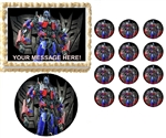 Transformers OPTIMUS PRIME Characters Edible Cake Topper Frosting Sheet - All Sizes!
