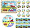 On the Go TRANSPORTATION Train Truck Edible Cake Topper Image Frosting Sheet - All Sizes!