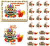 Tribal Hawaiian Tiki Edible Cake Topper Image, Edible Cupcakes, Cake Decoration