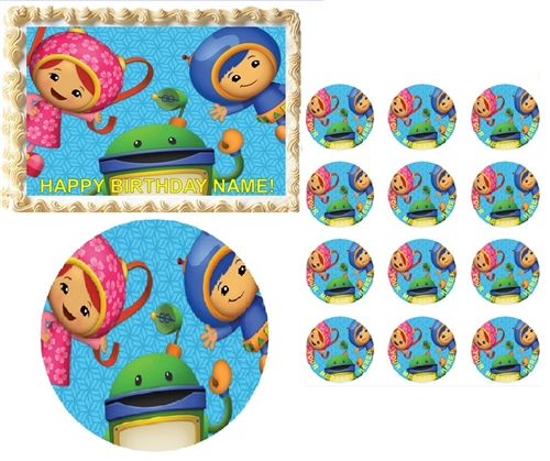Tremendous Team Umizoomi Characters Waving Edible Cake Topper Frosting Personalised Birthday Cards Epsylily Jamesorg