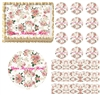 Vintage Shabby Chic Pink Roses Flowers Edible Cake Topper Image Frosting Sheet Cake