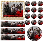Walking Dead Zombies Party Edible Cake Topper Frosting Sheet - All Sizes!