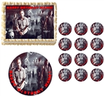 Walking Dead Zombies Cast Edible Cake Topper Frosting Sheet - All Sizes!