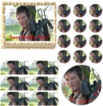 Walking Dead DARYL DIXON Party Edible Cake Topper Frosting Sheet - All Sizes!