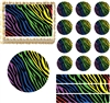 Rainbow Zebra Print Edible Cake Topper Image Cake Decoration Cupcakes Cookies