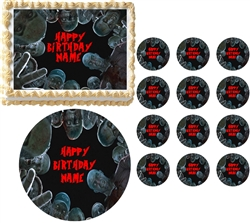 Real Life ZOMBIES Looking Down Edible Cake Topper Image Frosting Sheet - All Sizes!