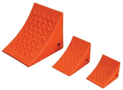 Orange Urethane Wheel Chocks