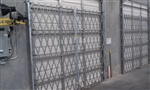 Galvanized Accordion Folding Dock and Door Gates