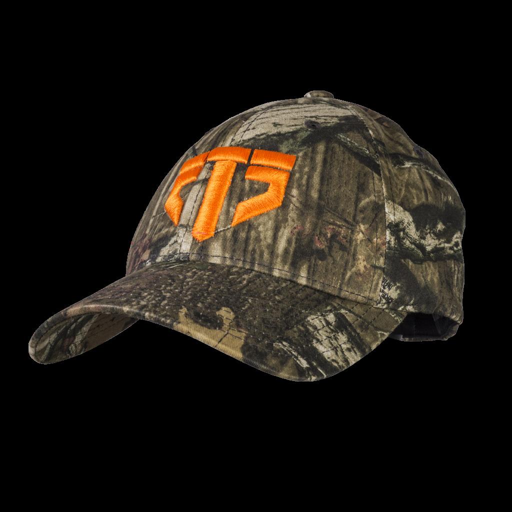 410119da ETS Logo Hat, Camo with Orange Logo
