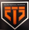 "3"" Black and Orange ETS sticker"