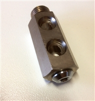 T-connector  3X 3/8F  1X9/16M for gas block R557*Buy rEvo Rebreathers at OceanEdge Outfitters 908-359-5468