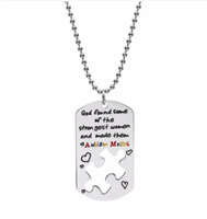 Collar dog tag Autism Mom