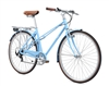 Fuji League Step Thru Lifestyle Hybrid Bike Sky Blue 2018 - On Sale NOW at Bikecraze.com