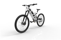 Stealth P7 Electric Commuter Mountain Bike Snow White 2018 - On Sale NOW at Bikecraze.com