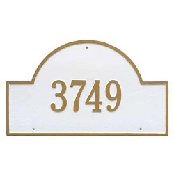 Address Plaque 23.75 x 14 inch Arch Estate Wall Aluminum- One Line