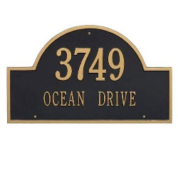 Address Plaque 23.75 x 14 inch Arch Estate Wall Aluminum- Two Line