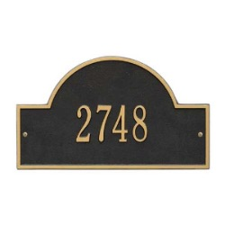 Address Plaque 15.75 x 9.25 inch Standard Wall Aluminum Arch Marker- One Line
